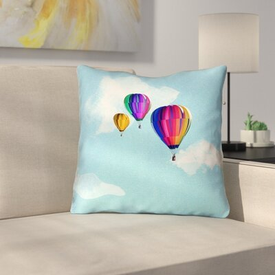 Hot Air Balloons Throw Pillow Size: 16 x 16