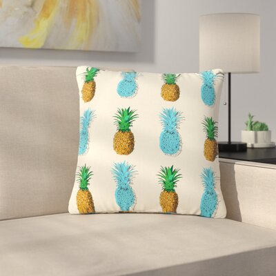 Fineapple Food Abstract Outdoor Throw Pillow Size: 18 H x 18 W x 5 D