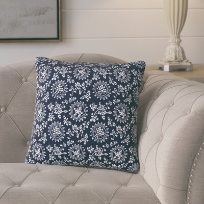 Leaper Modern Throw Pillow Pillow Cover Color: Dark Blue