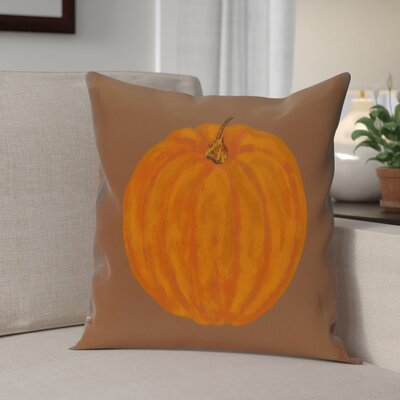 Lil Pumpkin Holiday Print Throw Pillow Size: 20 H x 20 W, Color: Brown