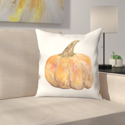 Jetty Printables Watercolor Pumpkin Throw Pillow Size: 18 x 18
