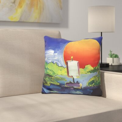 Sun Boat Throw Pillow