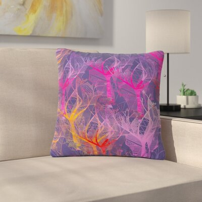 Marianna Tankelevich Colorful Trees Abstract Outdoor Throw Pillow Size: 16 H x 16 W x 5 D