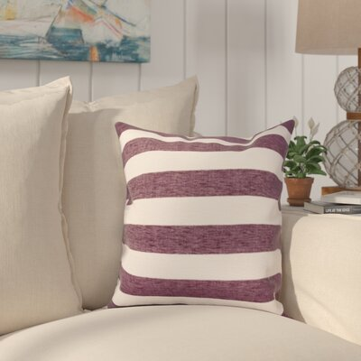 Isobel Outdoor Throw Pillow Color: Eggplant, Size: Large