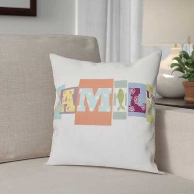 Scotland Family Fun Throw Pillow Size: 16 H x 16 W, Color: Dark Coral