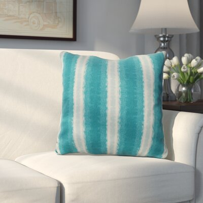 Wilkinsburg Sea Lines Indoor/Outdoor Throw Pillow Size: 18 H x 18 W, Color: Teal