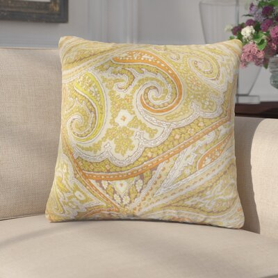 Kayley Paisley Cotton Throw Pillow Color: Kiwi