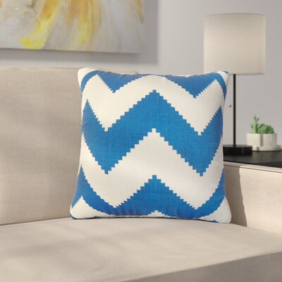 Svendsen Zigzag Linen Throw Pillow Color: Marine Blue
