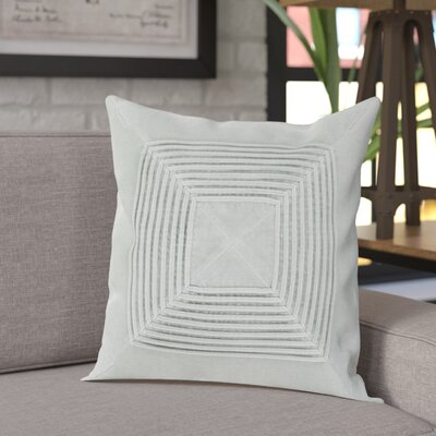 Stolp Textured Cotton Throw Pillow Color: Gray, Size: 22 H x 22 W x 5 D, Type/Fill: Pillow With Down Insert