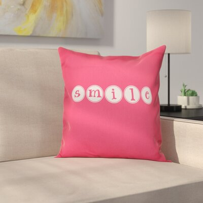 Sperber Throw Pillow Size: 26 H x 26 W, Color: Bright Pink