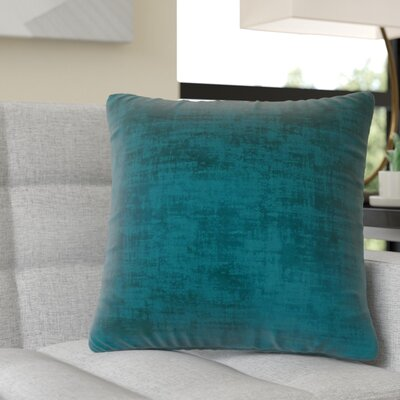 Aylor Square Throw Pillow Color: Turquoise