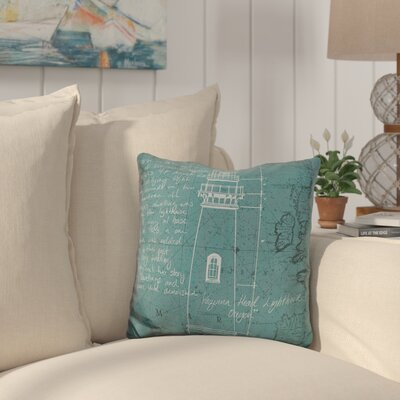 Canady Coastal Print Throw Pillow