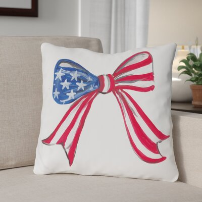 Flag Bow Throw Pillow Size: 18 H x 18 W x 3 D