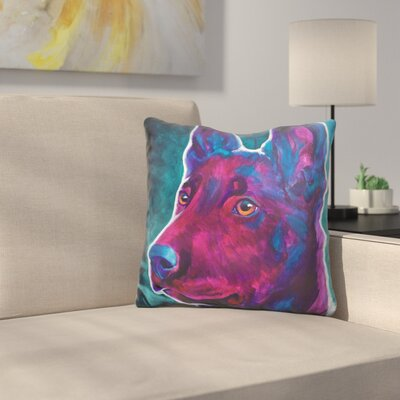 Reece Belgian Malinois Burgundy Throw Pillow