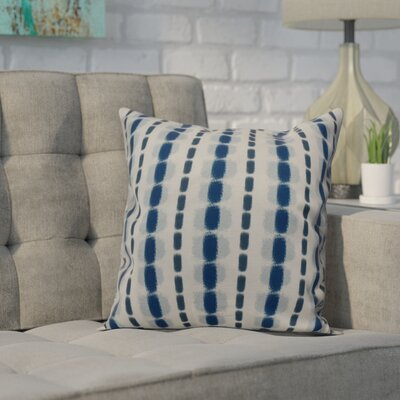 Leal Watercolor Stripe Indoor/Outdoor Throw Pillow Size: 18 H x 18 W, Color: Blue