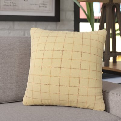 Crowley Plaid Throw Pillow Color: Tan
