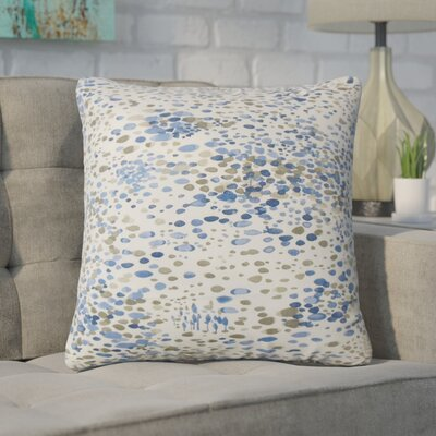 Yoan Graphic Cotton Throw Pillow Color: Blue