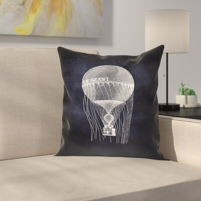 Le Geant Balloon Throw Pillow Size: 16 x 16