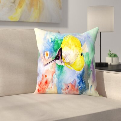 Coral Reef Fish 3 Throw Pillow Size: 14 x 14
