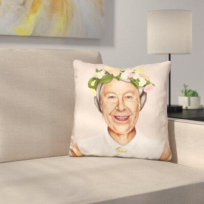 Qween Elizabeth Throw Pillow