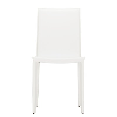 High Back Side Chair (Set of 2) Finish: White
