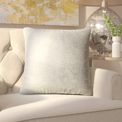 Chevaliers Solid Throw Pillow Color: Oatmeal
