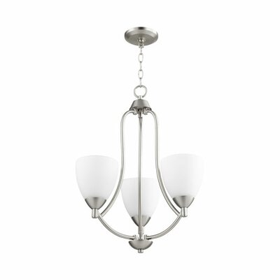 Brophy 3-Light Candle-Style Chandelier Color: Satin Nickel