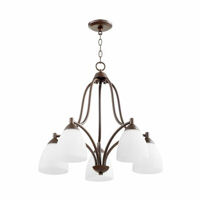 Brophy 5-Light Candle-Style Chandelier Color: Oiled Bronze