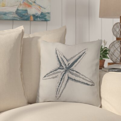 Allman Decorative Starfish Throw Pillow Size: 16 H x 16 W, Color: Grey