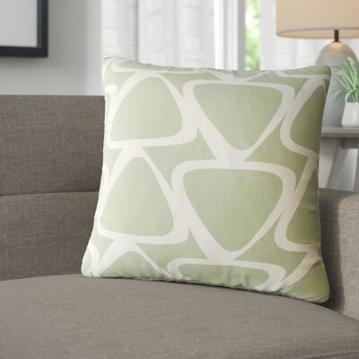 Cherish Geometric Cotton Throw Pillow Color: Green