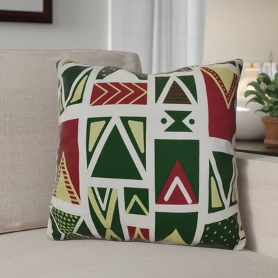 Decorative Geometric Throw Pillow Size: 18 H x 18 W, Color: White