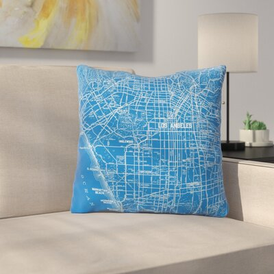 Los Angeles Streets by Catherine Holcombe Throw Pillow Size: 16 H x 16 W x 3 D