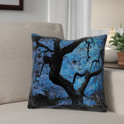Ghost Train Japanese Maple Tree Throw Pillow Size: 18 H x 18 W