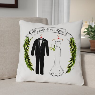 Bridegroom Throw Pillow Size: 18 x 18