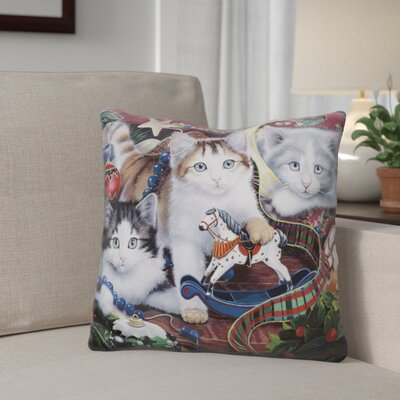 Berkey Christmas Kittens and All the TrimNs Throw Pillow