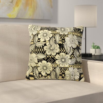 Louise Machado Ink Floral Outdoor Throw Pillow Size: 16 H x 16 W x 5 D