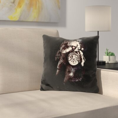 ItS A Small World After All Throw Pillow Color: Black