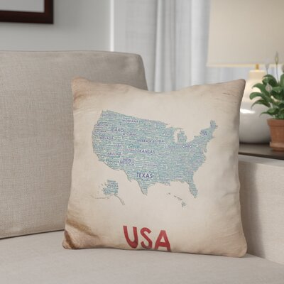 Gerritt USA Throw Pillow