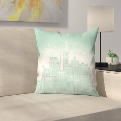Uranus Throw Pillow Size: 14 x 14