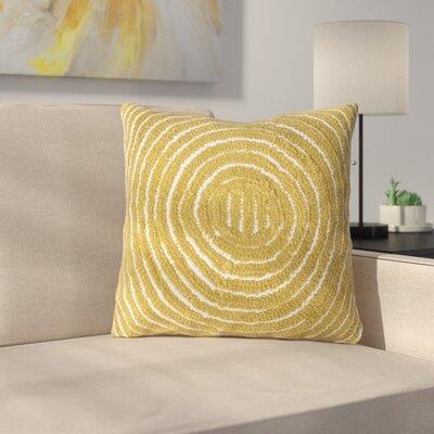 Mack Geometric Circle Throw Pillow Color: Yellow