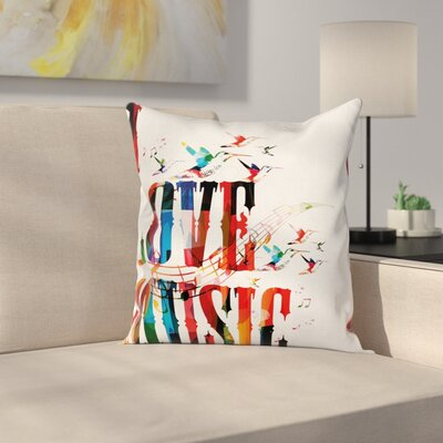 Modern Love Music Pillow Cover Size: 16 x 16