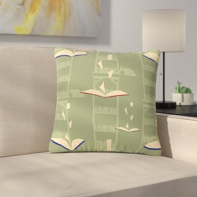 Stephanie Vaeth Library Digital Outdoor Throw Pillow Size: 16 H x 16 W x 5 D
