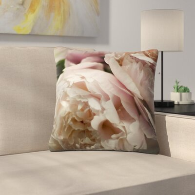 Cristina Mitchell Peonies Outdoor Throw Pillow Size: 18 H x 18 W x 5 D