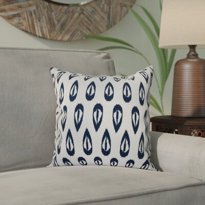 Sabrina Tears Geometric Print Throw Pillow Size: 26 H x 26 W, Color: Navy Blue