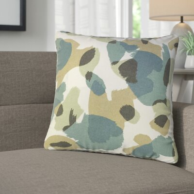 Mina Geometric Cotton Throw Pillow Color: Citrine