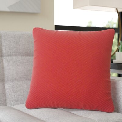 Demetrius Solid Cotton Throw Pillow