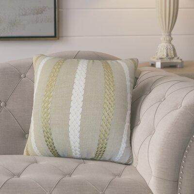 Melanie Stripe Throw Pillow Cover Color: Burlap