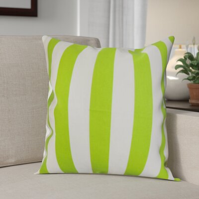Knotts Outdoor 100% Cotton Throw Pillow Color: Chartreuse / White, Size: 20 H x 20 W