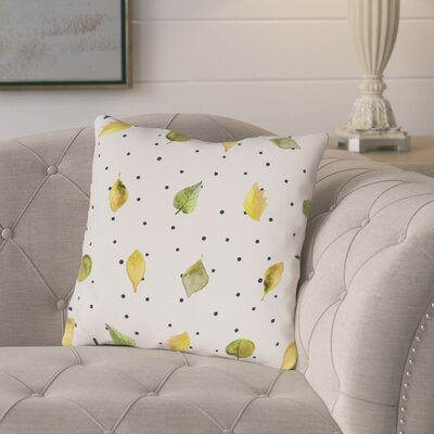 Porcaro Scattered Leaves Throw Pillow Size: 16 x 16