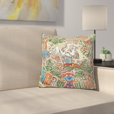 Asian Crane Throw Pillow